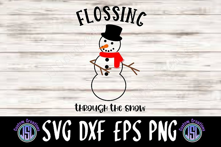 Flossing Snowman | Set of 2 | SVG DXF EPS PNG Cut Files
