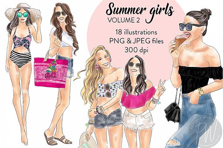 Summer Girls - volume 2 fashion clipart