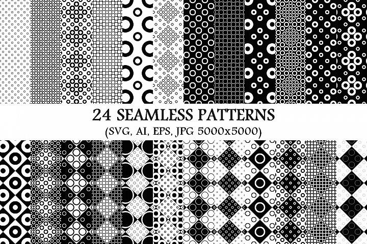 24 Seamless Circle Patterns