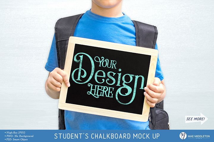 Students Chalkboard Mock up