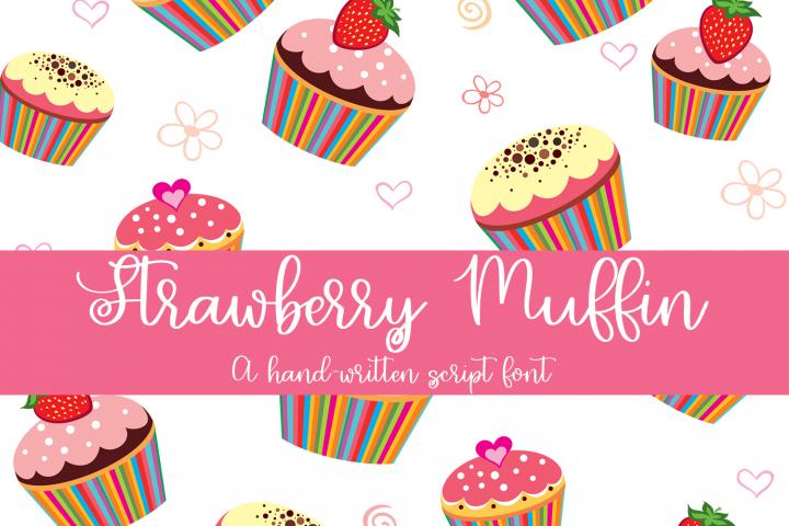 Strawberry Muffin - A Hand-Written Script Font