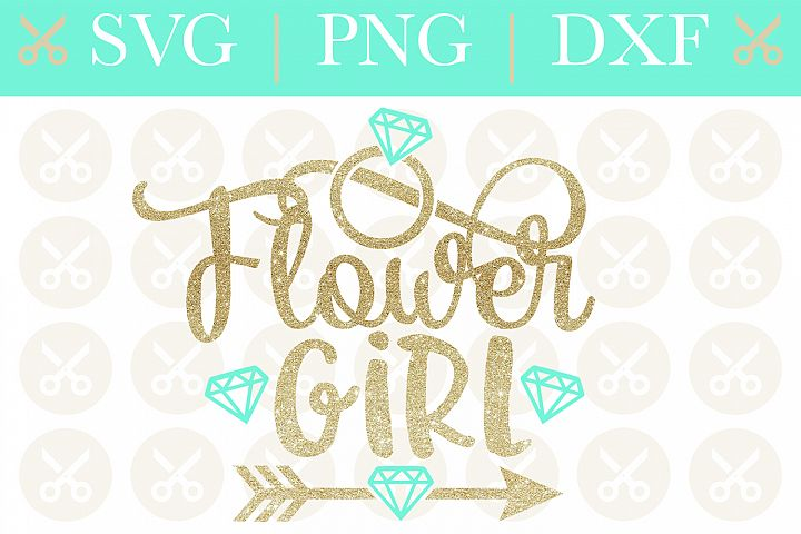 Flower Girl Svg Wedding Svg Bridesmaid Svg Cutting File