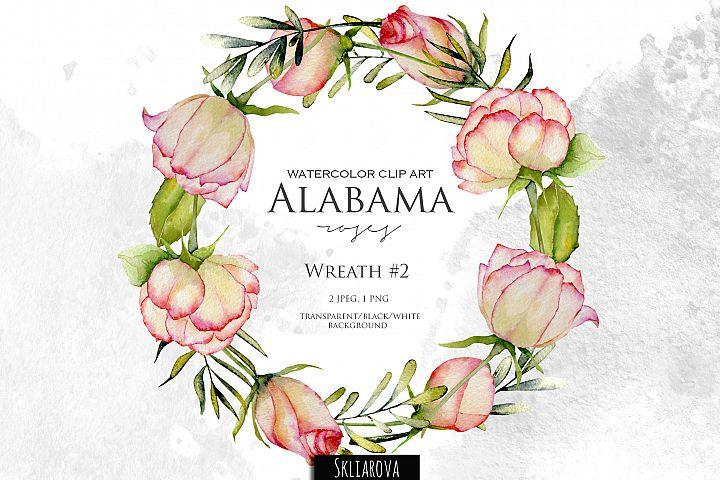 Alabama roses. Wreath #2