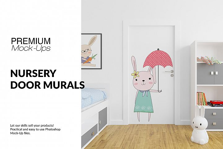 Door Murals in Nursery Set
