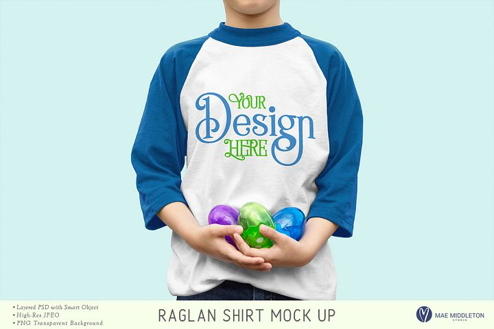 Easter mock up - Raglan / baseball shirt
