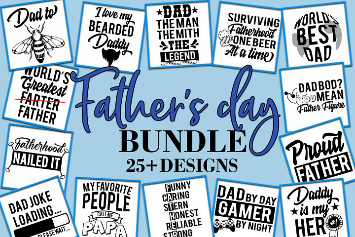 Fathers day Dad Quotes Sayings SVG Design Bundle