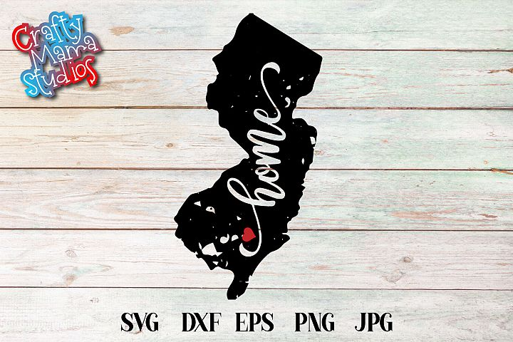 New Jersey Home SVG State Sublimation PNG EPS Cut File