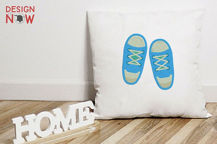 Baby Shoes Embroidery Design, Children Woman Embroidery Art