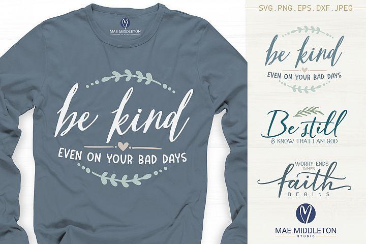 Kindness, Faith, Inspirational SVG, printables, sublimation