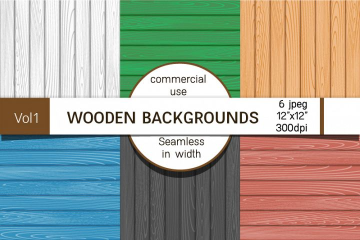 Backgrounds with wooden boards, textures of different colors