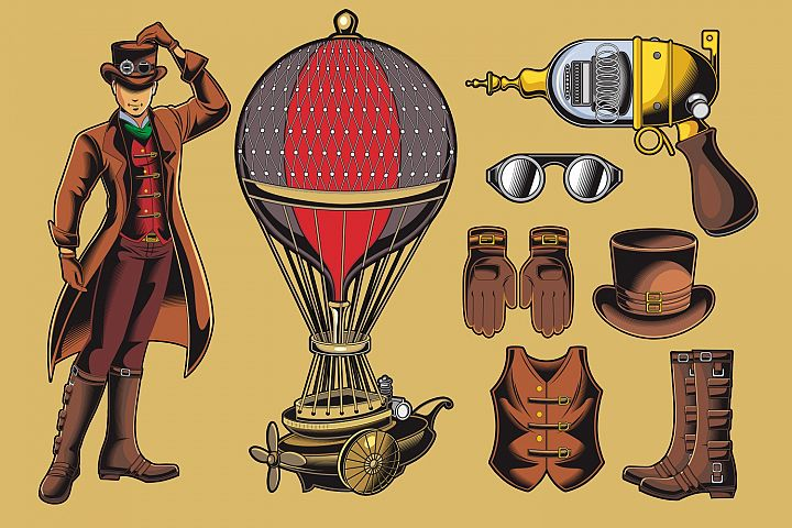Steampunk Vector Pack