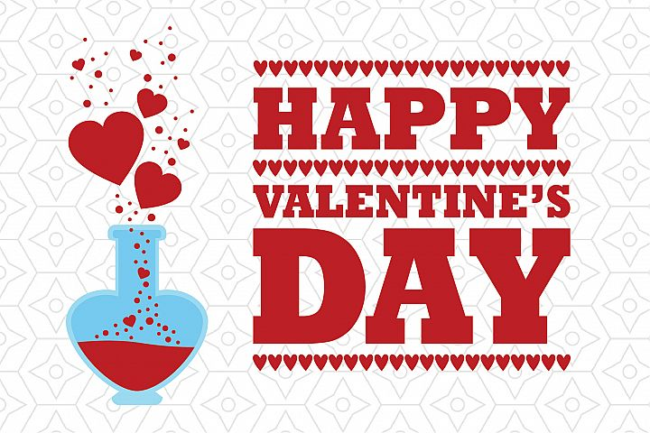 Happy Valentines Day Love Potion Decal