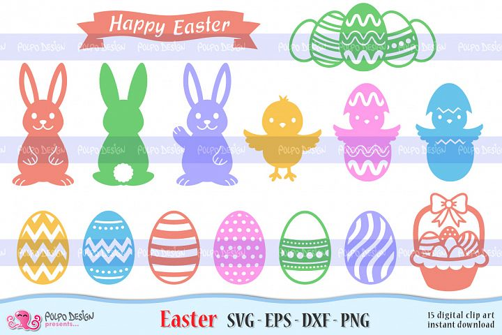 Easter SVG, Eps, Dxf and Png