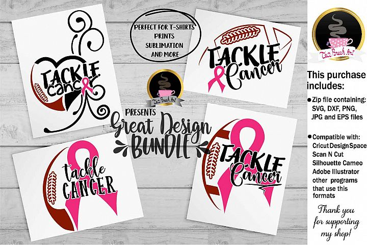 Tackle Cancer Breast Cancer Awareness Set Cutting Files 1064