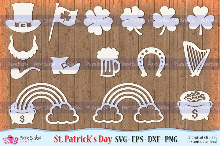 St. Patricks Day SVG, Eps, Dxf and Png