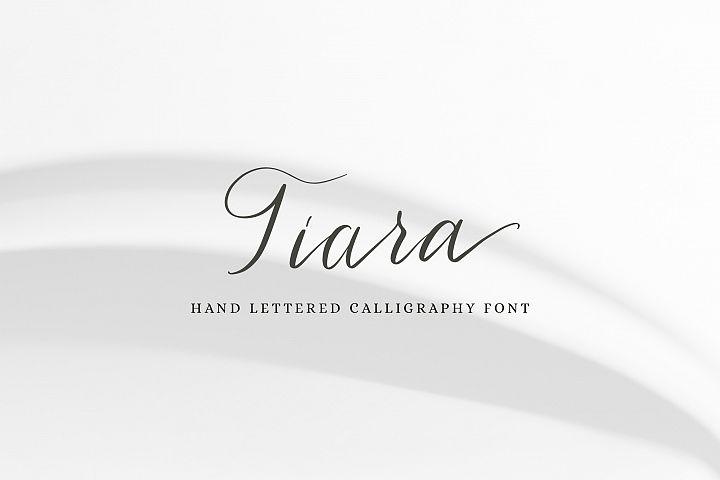 Tiara / modern calligraphy script