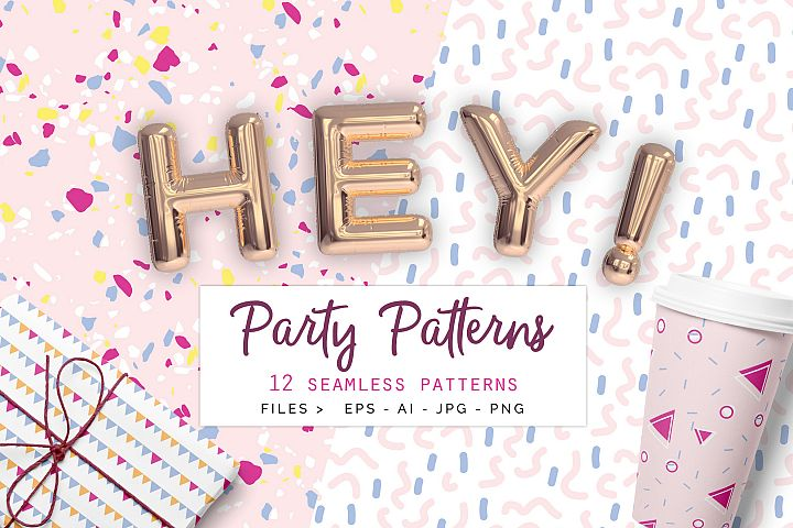 Party Patterns set of 12