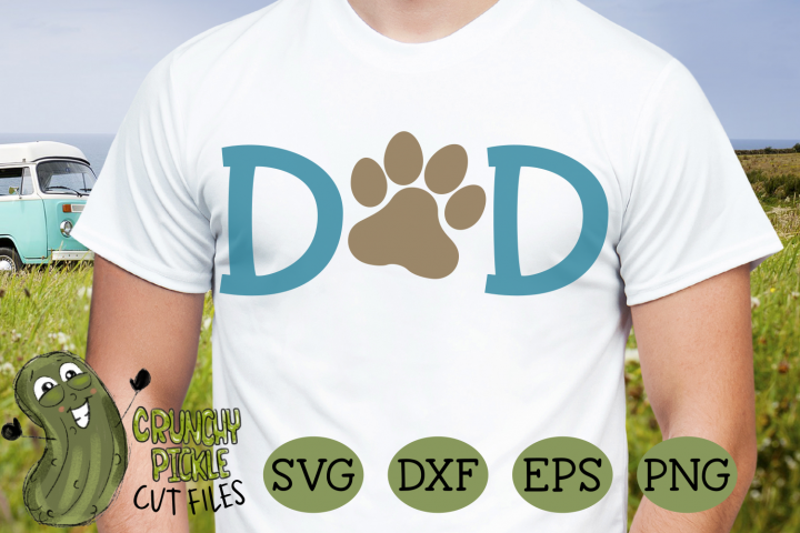 Dog Dad Paw SVG example