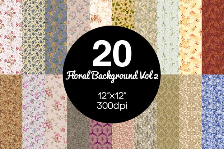 20 Floral Background Vol 2