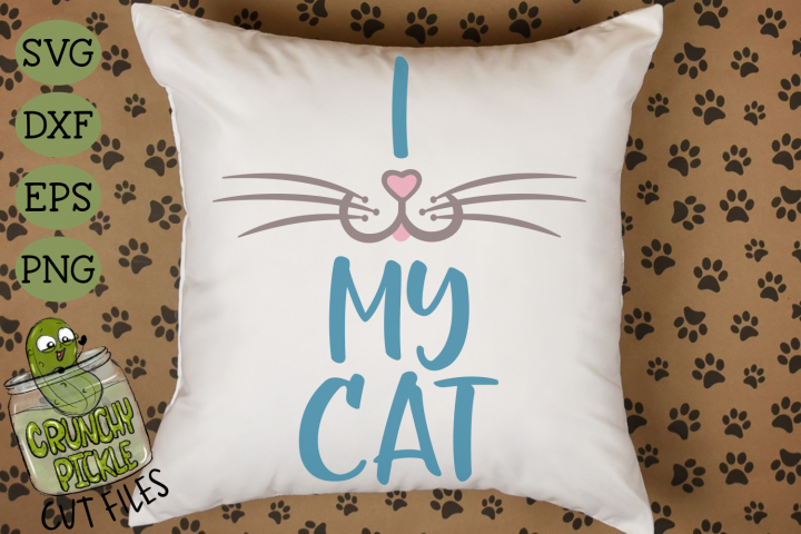 I Heart My Cat - Cat Mom SVG
