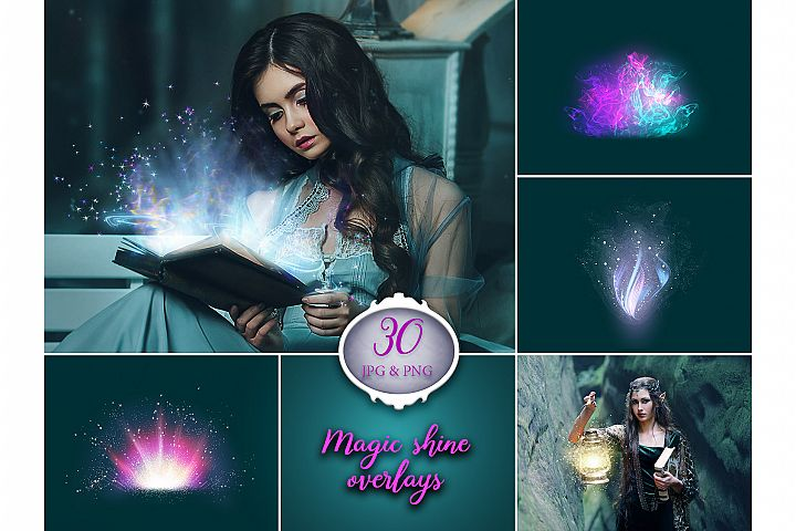30 Magic Shine Photo Overlays
