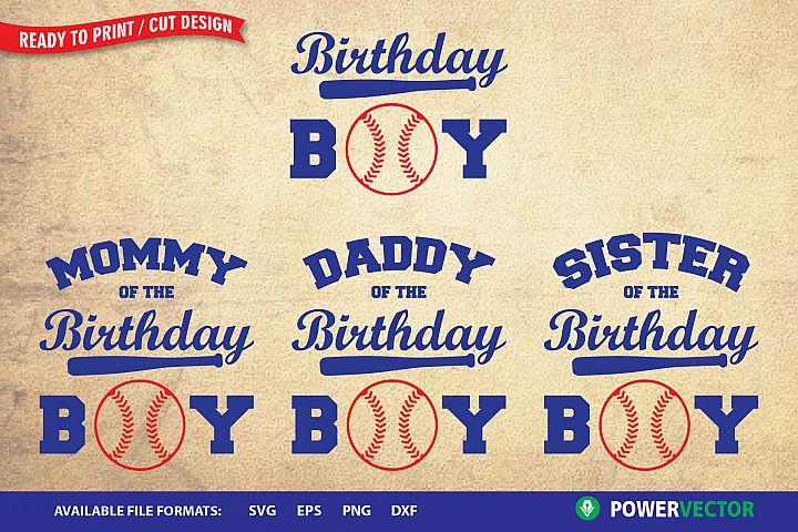 Birthday Boy SVG| Birthday Family Attire Print, Cut Files