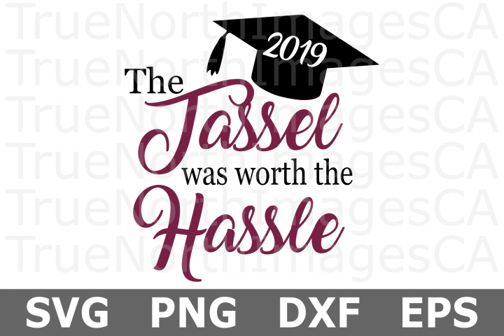 The Tassel was worth the Hassle - A School SVG Cut File