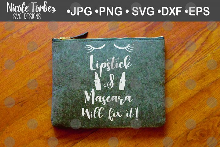 Lipstick & Mascara SVG Cut File