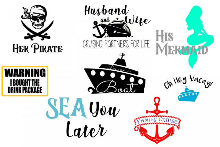 Cruise Vacation BUNDLE SVG File