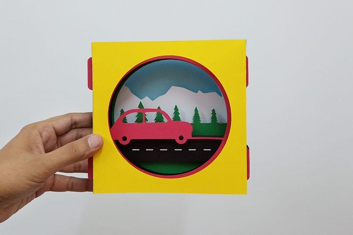 DIY Car tunnel Card - 3d papercraft
