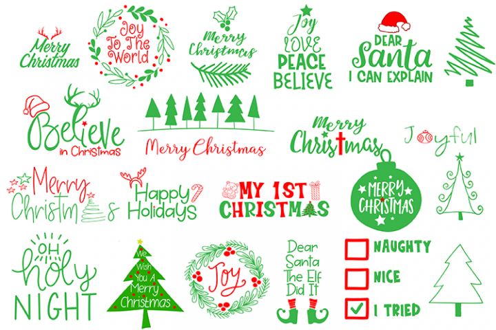 Christmas SVG Cut File Bundle