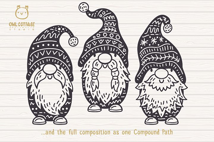 Scandinavian Gnomes SVG, Gnome Clipart, Tomte example 4