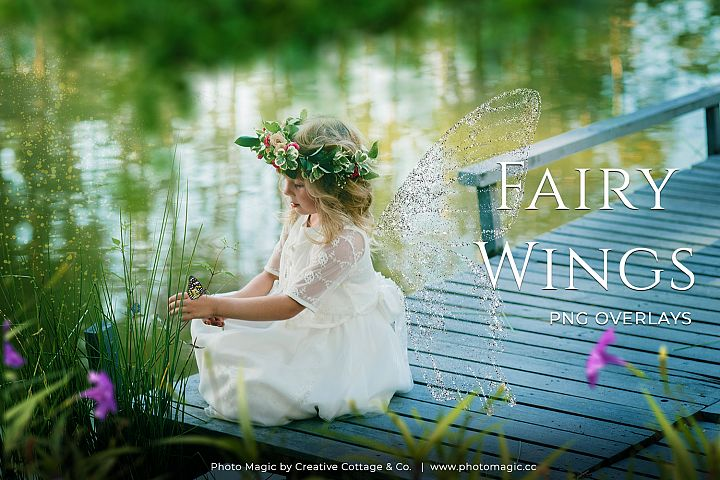 Fantasy Fairy Wing Photo Overlays