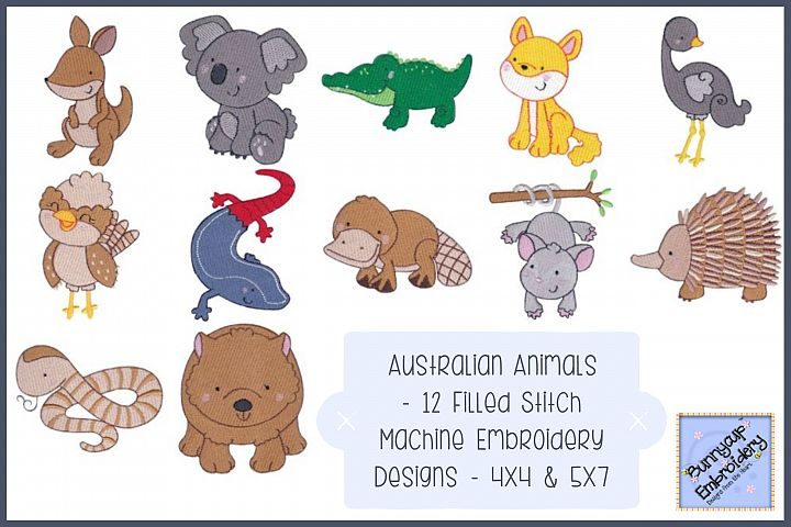 Australian Animals - 12 Machine Embroidery Designs
