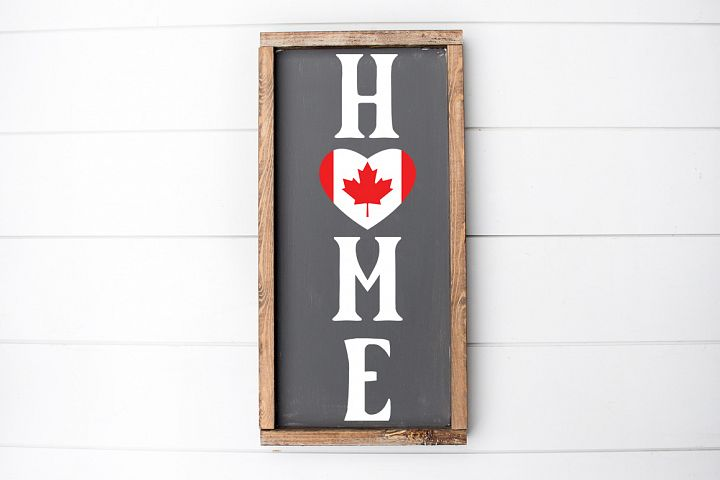 Canadian Flag SVG - Home SVG, Welcome Sign SVG