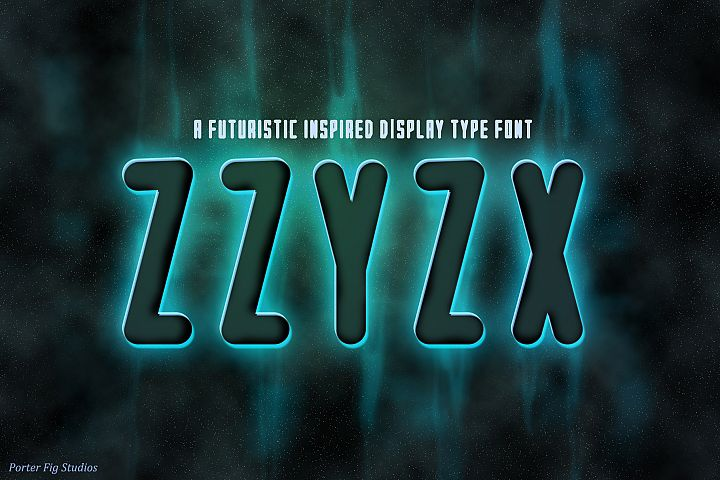 ZZYZX a futuristic Scifi Inspired Display Font
