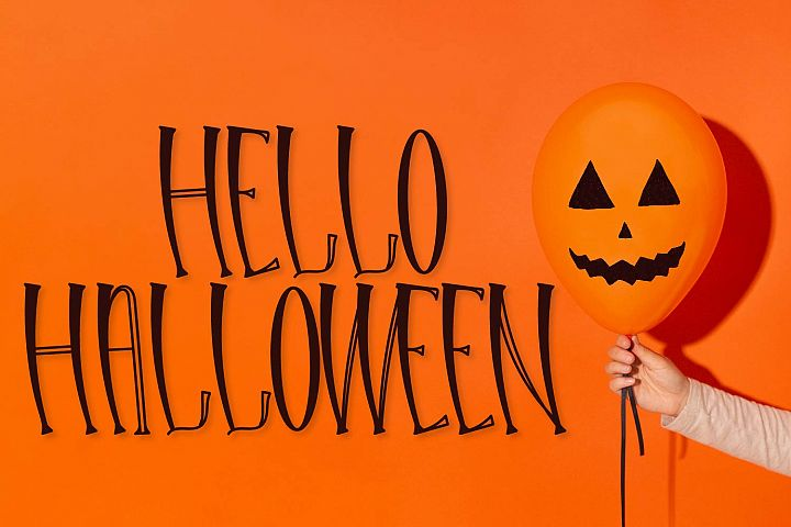 Hello Halloween - A Spooky Font