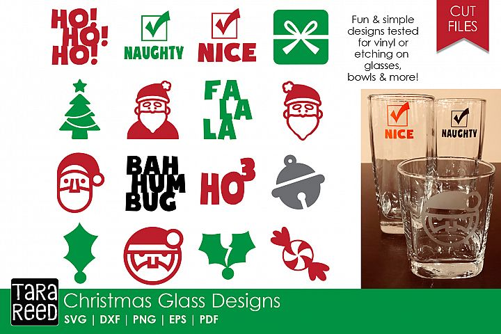Christmas Glass Designs - Christmas SVG Files for Crafters