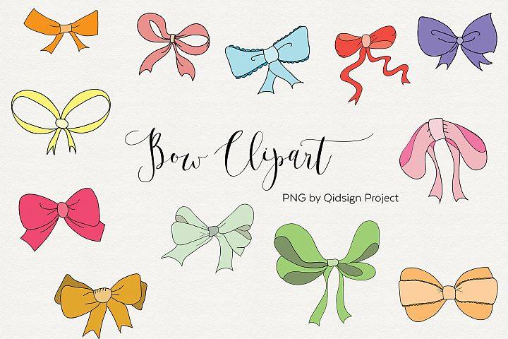 12 Hand Drawn Bow Clipart PNG