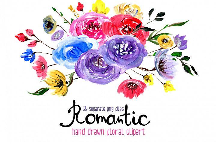 Acrylic floral big set 65 elements