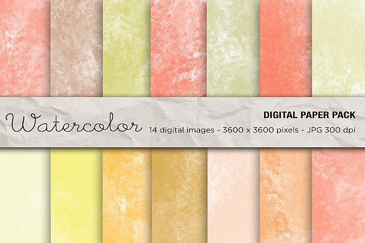 Wedding Invitation Papers, Watercolor Background