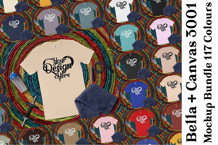 Bella Canvas 3001 Mockup Bundle T-Shirt Mock Ups 201