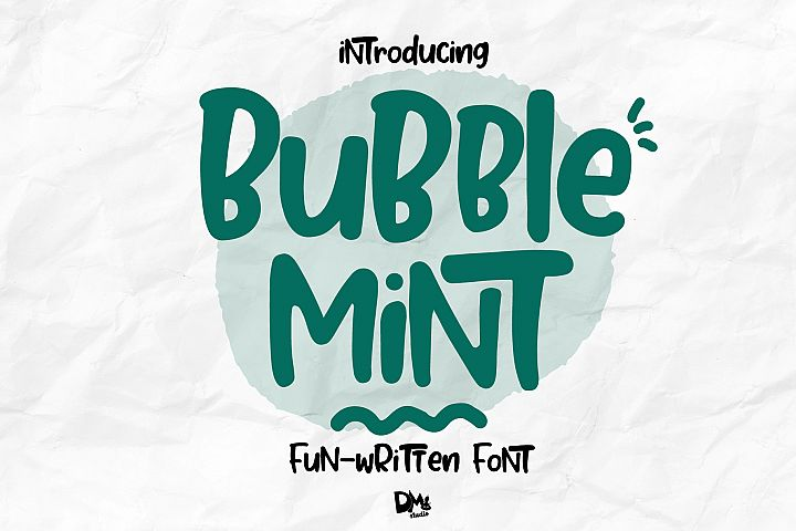 Bubble Mint - Fun written Font