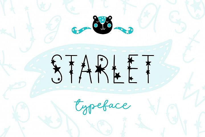 Starlet Typeface with Clipart!