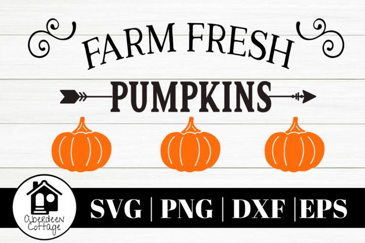 Farm Fresh Pumpkins 3 SVG