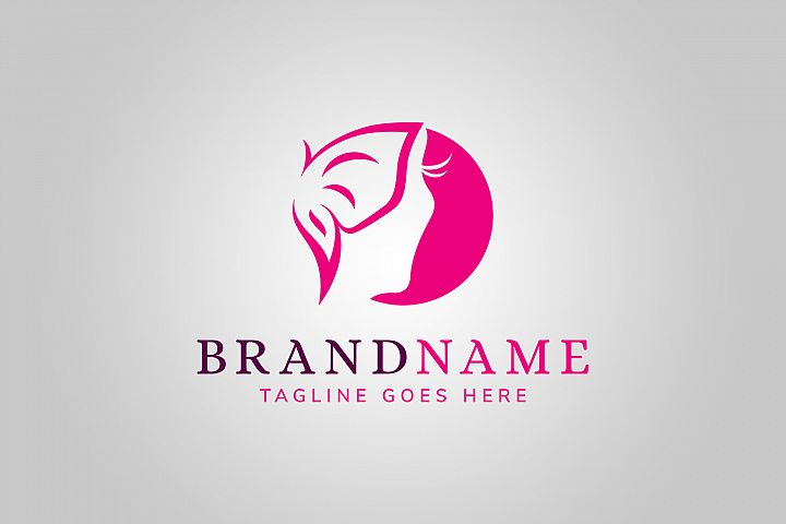 Woman Butterfly Logo Template