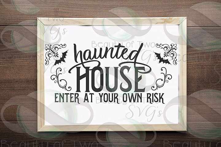 Halloween svg sign design, Haunted House svg, witch svg