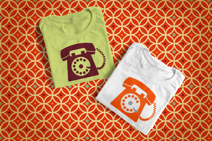 Rotary Phone Clip Art SVG File Cutting Template