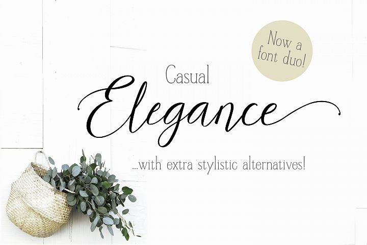 Casual Elegance Font duo extra ligatures & alternatives