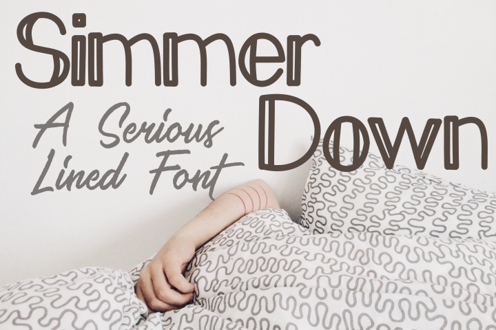Simmer Down Lined Sans Serif Font